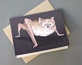 Vampire Bat Notecard and Envelope