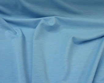 Cotton Jersey spandex Knit - Light Blue
