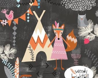 Fox Nursery Art Print*