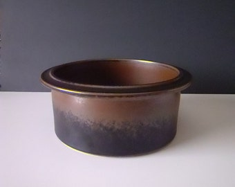 Arabia Finland Ruska Mid Century Pottery Serving Bowl Casserole