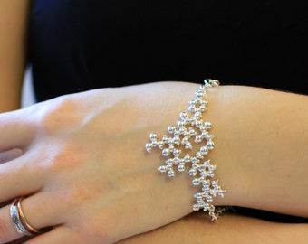 Oxytocin Bracelet - Sterling Silver - Molecule Jewellery