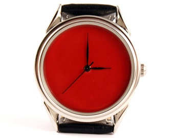 Red watch - ascetic watch - unisex watches