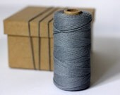 Steel Stone Grey Solid Colour Twine - 10 metres - Perfect for Gift Wrapping and Craft