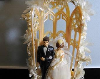 Vintage 1950's Retro Wedding Cake Topper