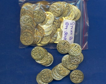 200 Pack of Gold colored Coins, 20mm
