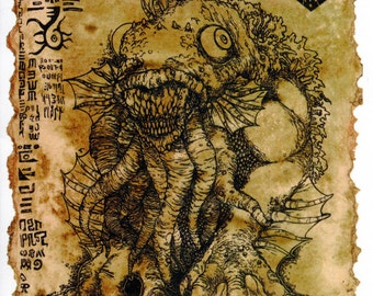 The Litany of Dagon scroll - Lovecraft prop LARP cthulhu