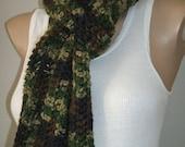 FREE SHIPPING Euro Style Camouflage Unisex Crochet Scarf