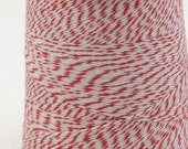 Red and White Bakers Twine 25 yards Classic Red and White