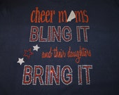 Cheer Moms Bling It designed with glitter and bling