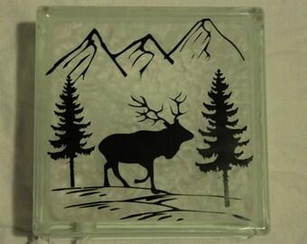 Elk DIY decal for  glass block