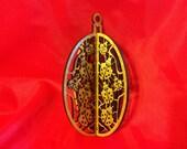 3-D Wood Lady Bugs Ornament