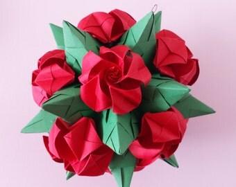 Kusudama with roses