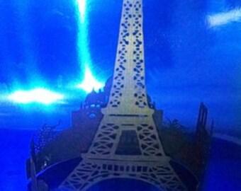 DIY Extra large Paris skyline centerpiece