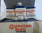 Gunston Hall nutmeg tins, NOS nutmeg spice tin, vintage spice tin, old spice tin