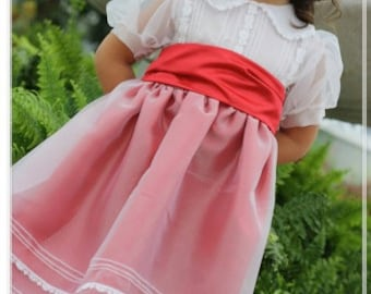 Miss Merry - Ellie Inspired Peter Pan Collar Puffed Sleeves Lined Dress PDF pattern  - sizes 1-16