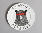 The Sandwich Defender Bear side plate