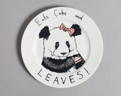 Eats Cake and Leaves side plate