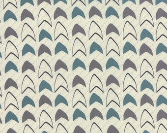 Geometric Print in Teal from the Modern Neutrals Collection, by Moda
