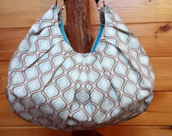 Hobo Bag, Purse, Handbag Cream, Taupe, Blue