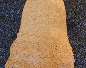 Hand crocheted christening dress
