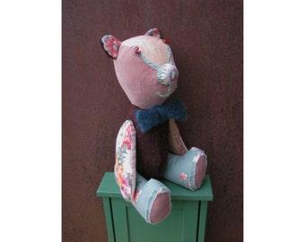 Artist Bear Gentleman handmade sewn home decor shabby style