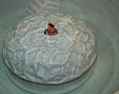"Ceramic Cat Fountain, Handmade, Foodsafe -  ""Leaflets""- 9.75 Inch Diameter"