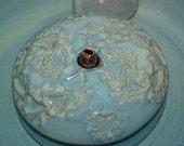 "Cat Drinking Fountain, Pet Fountain, indoor fountain - Food safe, Ceramic - 9.25 Inch Diameter - ""Hearts"""