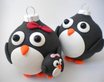 Penguin Family and baby girl  Decorations