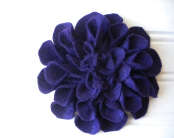 Felt Brooch in Deep Purple