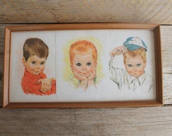 Vintage Framed Nursery Prints