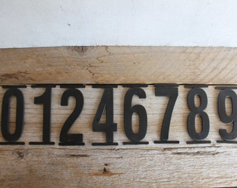 Vintage Black Plastic Sign Numbers