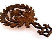 Cast Iron Trivet John Wright American Eagle Laurel Wreath Rustic Kitchen Decor