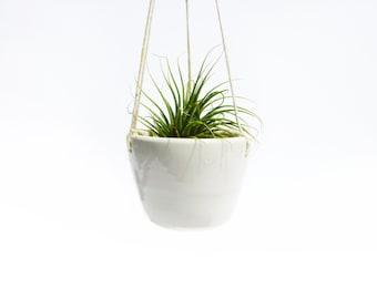 Large Hanging Planter - Handmade Ceramic Planter