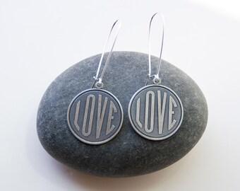 Silver Love Earrings