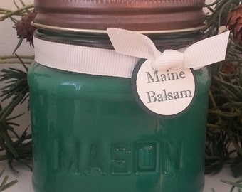 Maine Balsam Soy Candle -  8 oz. Mason Jar