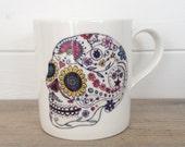 Day Of The Dead Skull Ceramic Mug