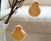 Two Easter Chicks - Needle felted by Mia Underwood from my book Nordic Crafts