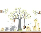 Baby Wall Decal, Monkey Wall Decals, Girl Decal, Boy Decal, Nursery Wall Decals, Jungle Walls Decals