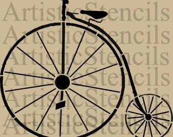 STENCIL Bicycle - Vintage Old Fashioned   10 X 8.5