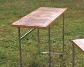 reclaimed hammonasset pier wood writing desk/ sofa table