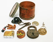 Vintage Supplies Inspiration Kit Collectible Supplies Wood Box Collectibles Assemblage
