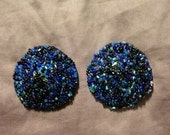 Heavily beaded blue and purple pasties (I call them booby pastries!), size medium
