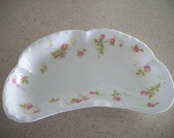 Haviland and Company Limoges Made in France Rose Trinket Dish
