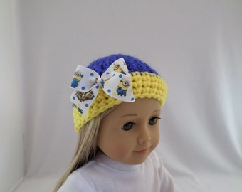 The Minions Crochet Hat fit American Girl Doll