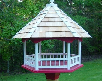Woodworking Plans - Platform Gazebo Bird Feeder - Fly Through Design. Huge!