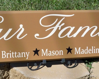 Blended Family Sign, Blended Family,  Blended Family Gift, First Name Sign, Personalized Sign, Custom Signs,  Family Sign, Family Name Sign