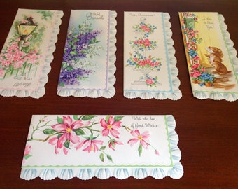 Vintage  Set of 17 Embossed Greeting Cards In It's Original Box - Instant Collection
