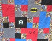 Superhero quilts