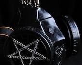 Cyber Mask Cyber Goth Respirator Black  Gas Mask  Pentagram 3 SPIKES