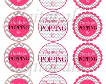 Thanks for Popping By CHEVRON BABY SHOWER instant downoad printable ...
